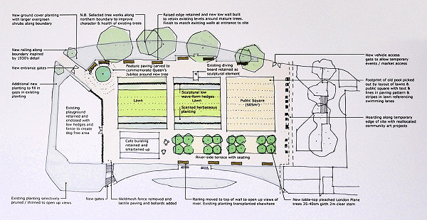 Description of the proposed design for the Diamond Jubilee Garden