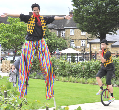 Just part of the entertainment at the Diamond Jubilee Gardens family fun day, 24 June 2012