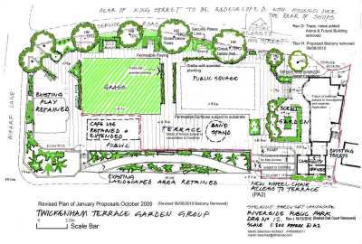 Terrace Group's plan - Oct 2010. Click to see alarger version. Copyright © Twickenham Riverside Terrace Group