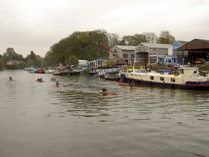 The boatyards on Eel Pie Island